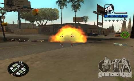Samaro C-HUD для GTA San Andreas второй скриншот