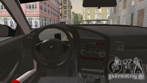 BMW M3 E36 Bridgestone v2 для GTA San Andreas вид сзади слева