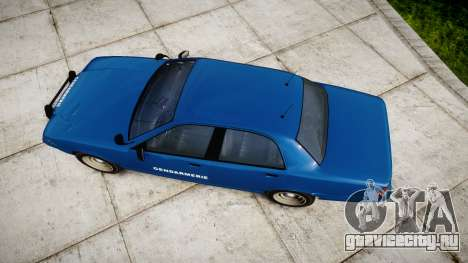 GTA V Vapid Police Cruiser Gendarmerie2 для GTA 4 вид справа