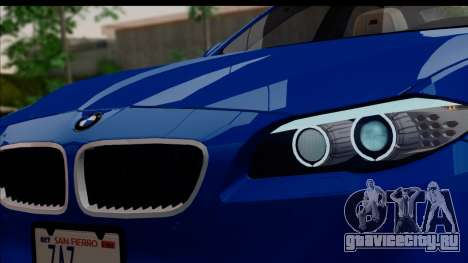 BMW M5 F10 2012 для GTA San Andreas