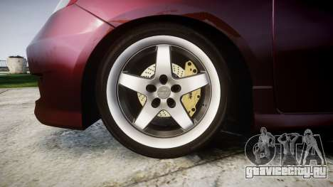 Honda Fit 2006 для GTA 4 вид сзади
