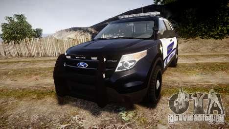 Ford Explorer 2013 Sheriff [ELS] v1.0L для GTA 4