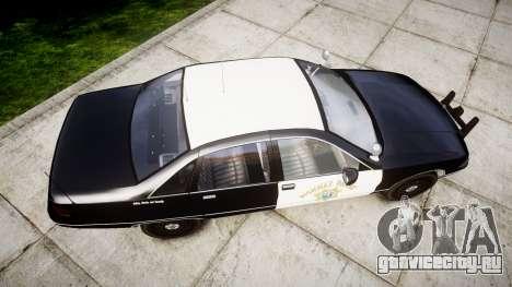 Chevrolet Caprice 1991 Highway Patrol [ELS] Slic для GTA 4 вид справа