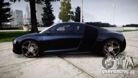Audi R8 plus 2013 HRE rims для GTA 4 вид слева