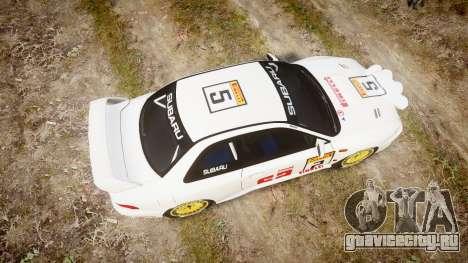 Subaru Impreza WRC 1998 v4.0 SA Competio для GTA 4 вид справа