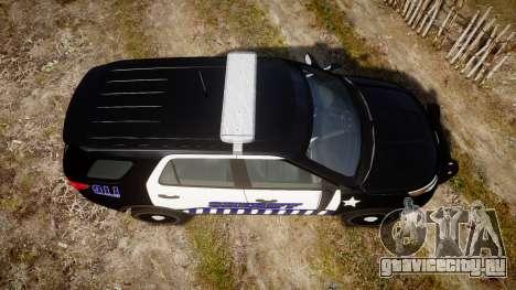 Ford Explorer 2013 Sheriff [ELS] v1.0L для GTA 4 вид справа