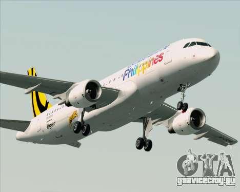 Airbus A320-200 Tigerair Philippines для GTA San Andreas двигатель