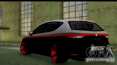 Seat Leon Hellandreas 2013 для GTA San Andreas вид сзади слева