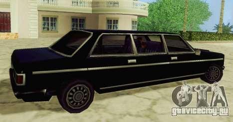 Admiral Limousine для GTA San Andreas вид слева