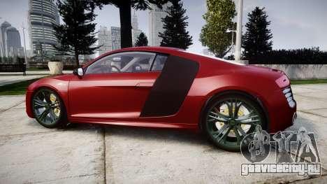 Audi R8 V10 Plus 2014 для GTA 4 вид слева