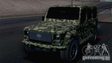 GTA 5 Benefactor Dubsta IVF для GTA San Andreas вид сбоку
