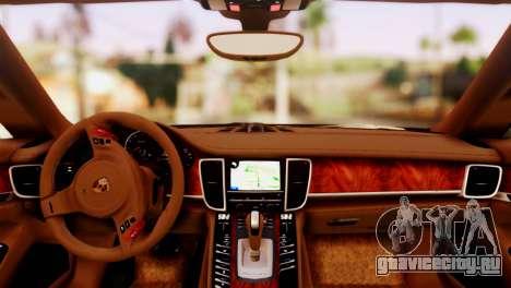 Porsche Panamera для GTA San Andreas вид сзади слева