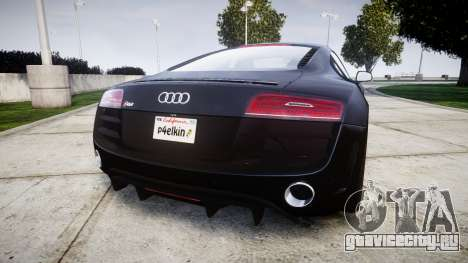 Audi R8 plus 2013 HRE rims для GTA 4 вид сзади слева