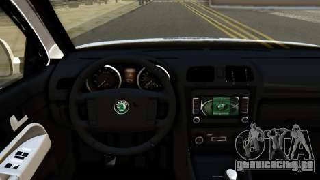 Skoda Octavia Scout Police для GTA San Andreas вид справа