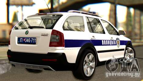 Skoda Octavia Scout Police для GTA San Andreas вид слева