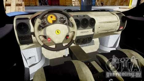 Ferrari F430 Scuderia 2007 plate Scuderia для GTA 4 вид изнутри