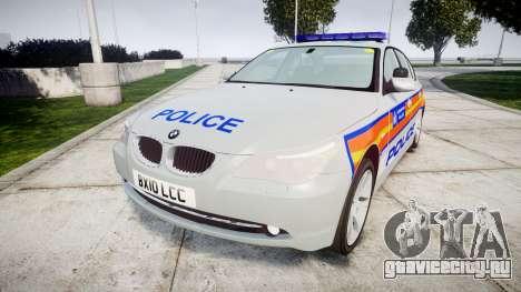 BMW 525d E60 2010 Police [ELS] для GTA 4