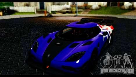 Koenigsegg One:1 v2 для GTA San Andreas вид сбоку