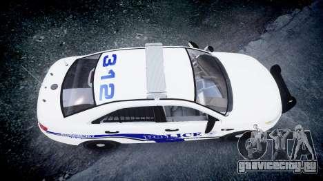 Ford Taurus 2014 Liberty City Police [ELS] для GTA 4 вид справа