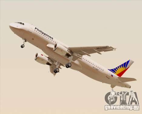 Airbus A320-200 Philippines Airlines для GTA San Andreas вид справа