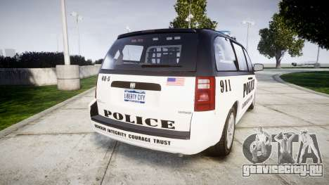 Dodge Grand Caravan LCPD [ELS] для GTA 4 вид сзади слева