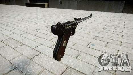 Артиллерийский пистолет Lange Р08 для GTA 4 второй скриншот