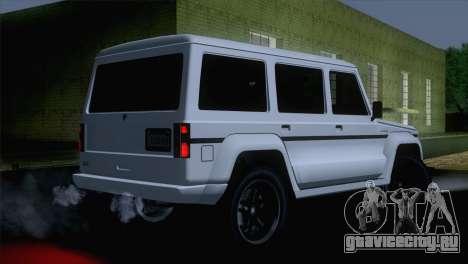 GTA 5 Benefactor Dubsta IVF для GTA San Andreas вид слева