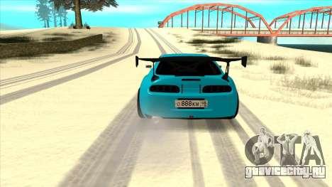 Toyota Supra Blue Lightning для GTA San Andreas вид справа