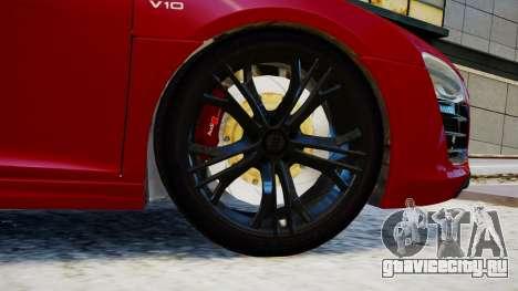 Audi R8 V10 Plus 2014 v1.0 для GTA 4 вид сзади слева