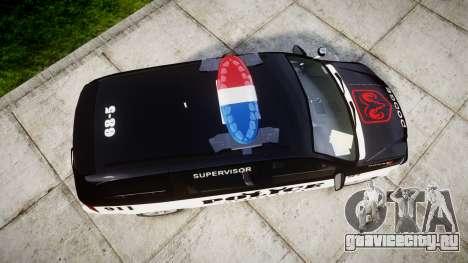 Dodge Grand Caravan LCPD [ELS] для GTA 4 вид справа