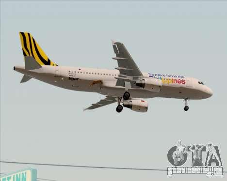 Airbus A320-200 Tigerair Philippines для GTA San Andreas вид изнутри