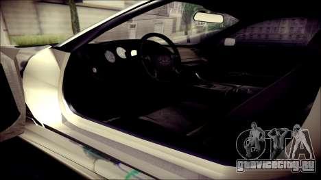 Toyota Supra Street Edition для GTA San Andreas вид сзади