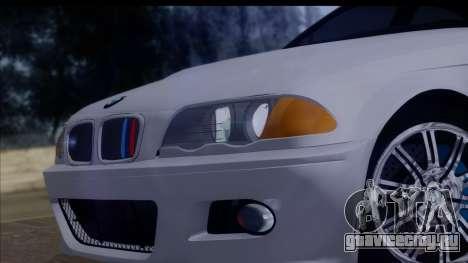 BMW M3 E46 Sedan для GTA San Andreas вид сзади