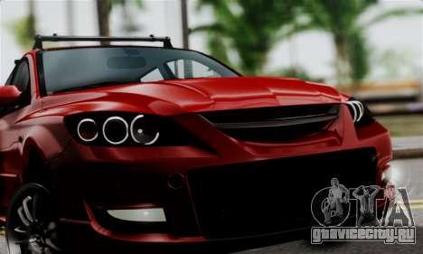 Mazda 3 MPS для GTA San Andreas вид сзади слева