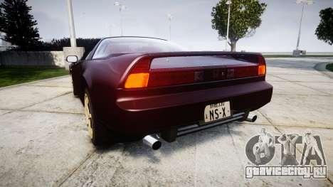 Honda NSX-R NA1 1992 [EPM] для GTA 4 вид сзади слева