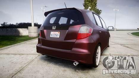 Honda Fit 2006 для GTA 4 вид сзади слева