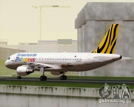 Airbus A320-200 Tigerair Philippines для GTA San Andreas вид сбоку