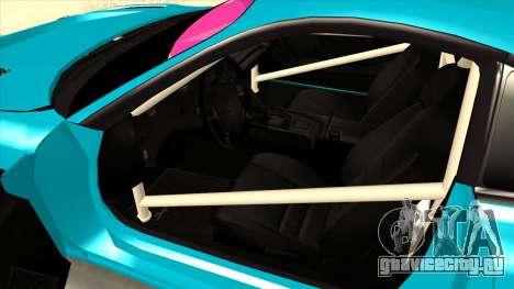 Toyota Supra Blue Lightning для GTA San Andreas вид сзади