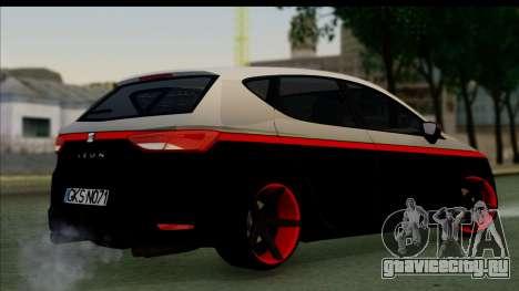 Seat Leon Hellandreas 2013 для GTA San Andreas вид слева