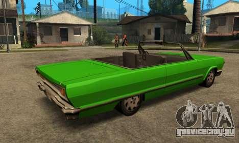 Beta Savanna для GTA San Andreas вид сзади