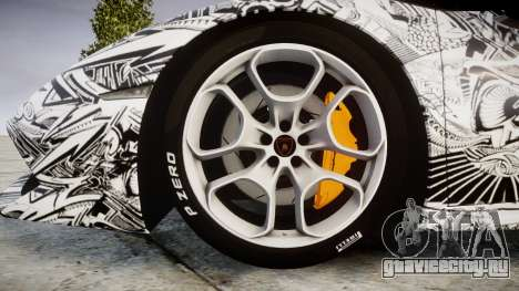 Lamborghini Huracan LP610-4 2015 Sharpie для GTA 4 вид сзади
