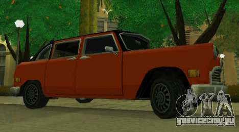Cabbie Restyle для GTA San Andreas вид слева