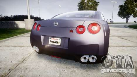 Nissan GT-R R35 2012 для GTA 4 вид сзади слева