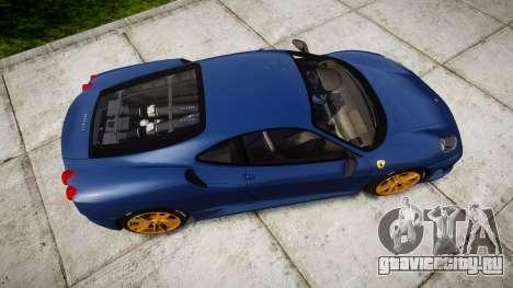 Ferrari F430 Scuderia 2007 plate Scuderia для GTA 4 вид справа