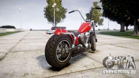 Western Motorcycle Company Daemon для GTA 4 вид сзади слева