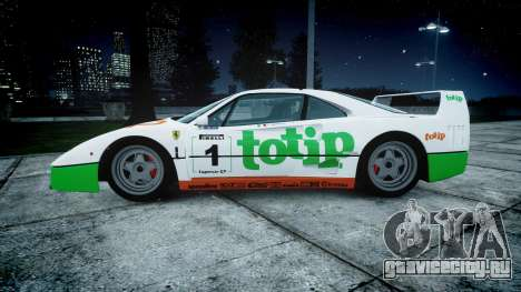 Ferrari F40 1987 [EPM] Jolly Club для GTA 4 вид слева