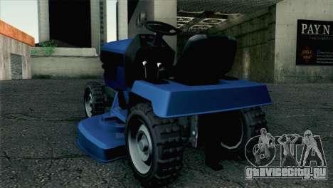 GTA V Mower для GTA San Andreas вид слева