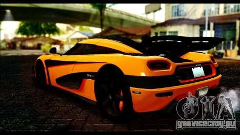 Koenigsegg One:1 v2 для GTA San Andreas вид слева