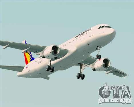 Airbus A320-200 Philippines Airlines для GTA San Andreas двигатель