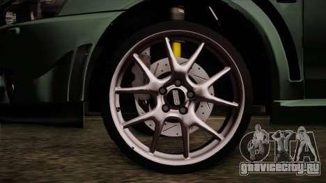 Mitsubishi Lancer Evolution FQ-400 для GTA San Andreas вид сзади слева